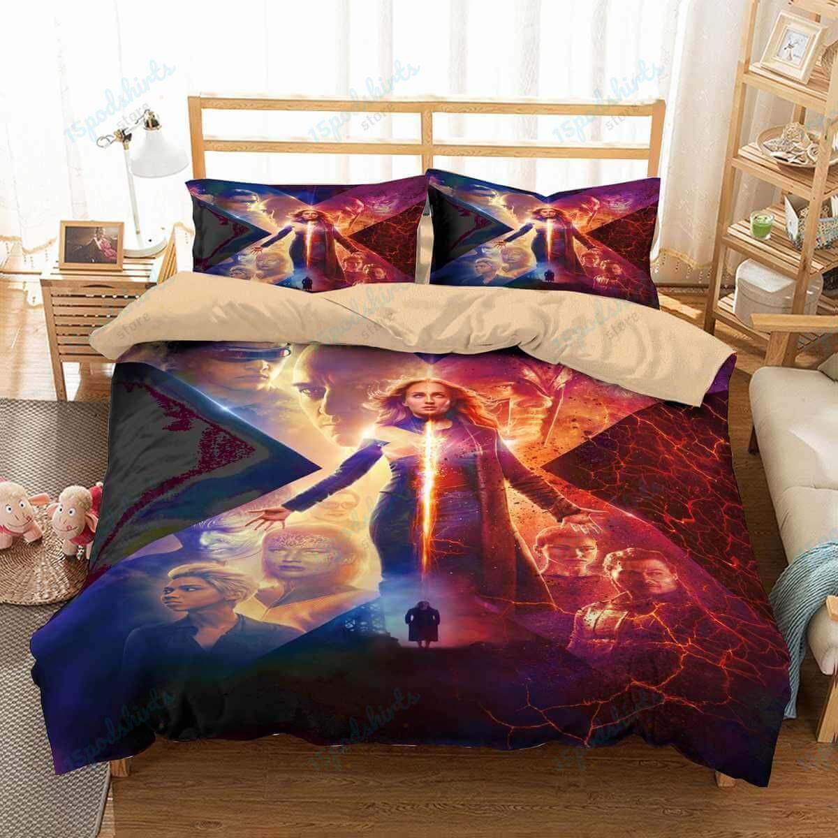 X Men Dark Phoenix 3 Duvet Cover Bedding Set
