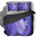 Artistic Girl Face Duvet Cover Bedding Set