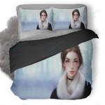 Artistic Girl Painting Duvet Cover Bedding Set