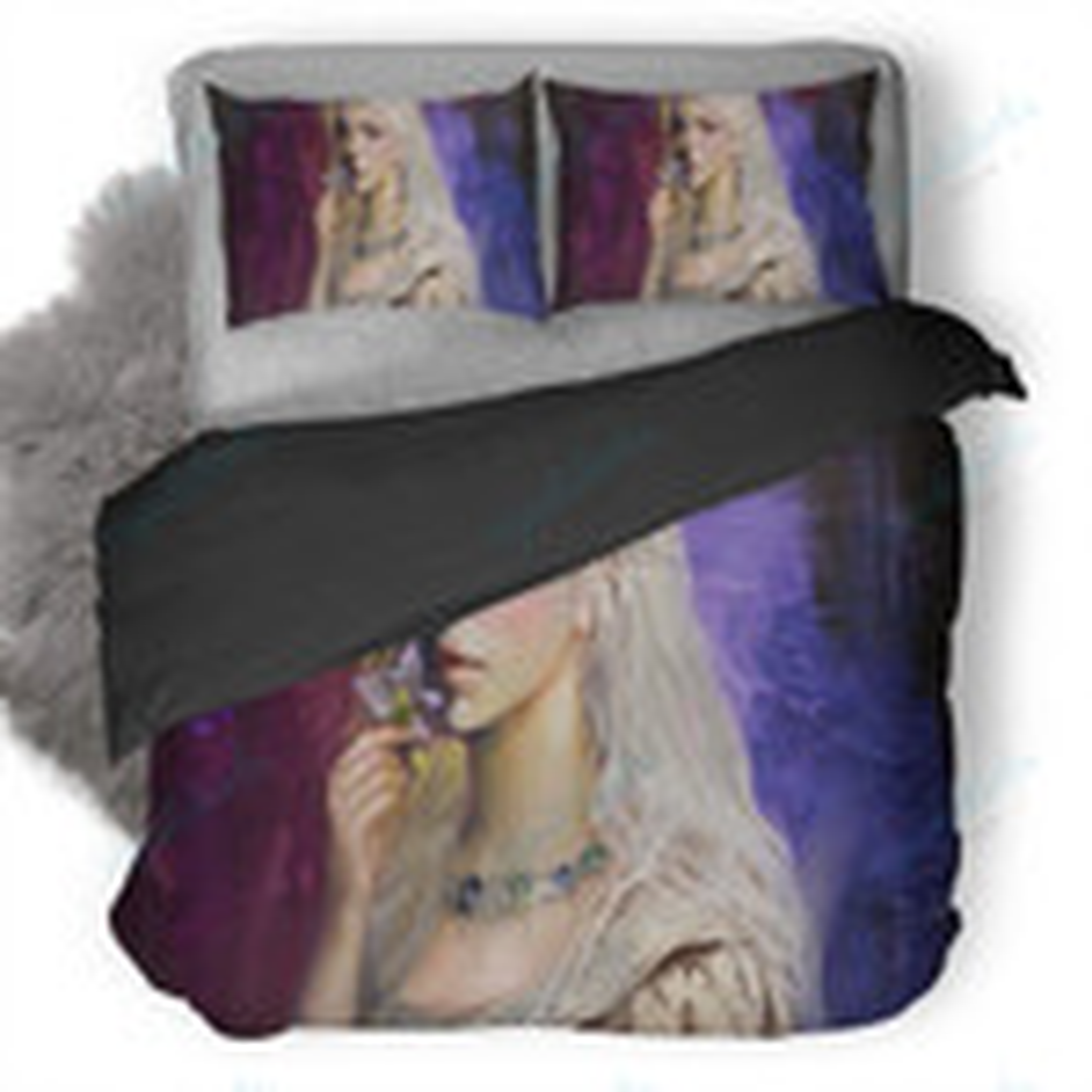 Artistic Women Painting Duvet Cover Bedding Set