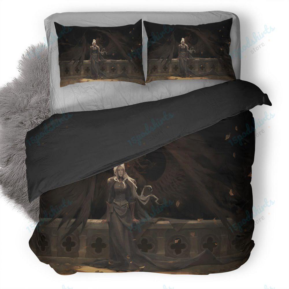Autumn Painting Fantasy Girl Duvet Cover Bedding Set