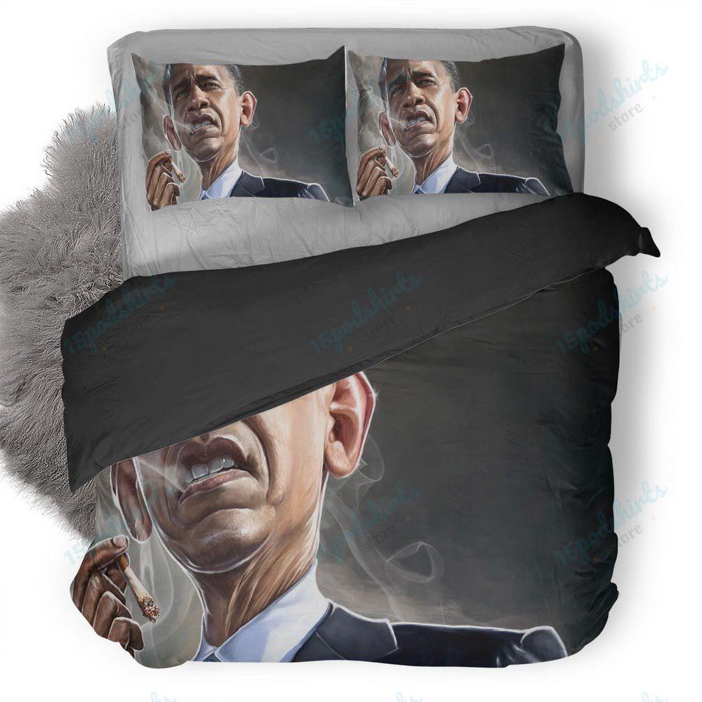 Barack Obama Smoking Duvet Cover Bedding Set