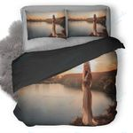 Beautiful Girl On Riverbank Duvet Cover Bedding Set