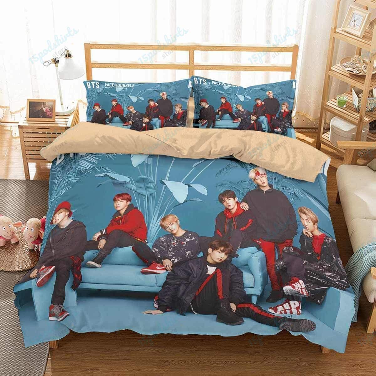 Bts 4 Duvet Cover Bedding Set