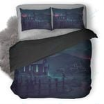 Church Illustration Duvet Cover Bedding Set