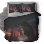 Dark Fantasy Girl And Evil Duvet Cover Bedding Set