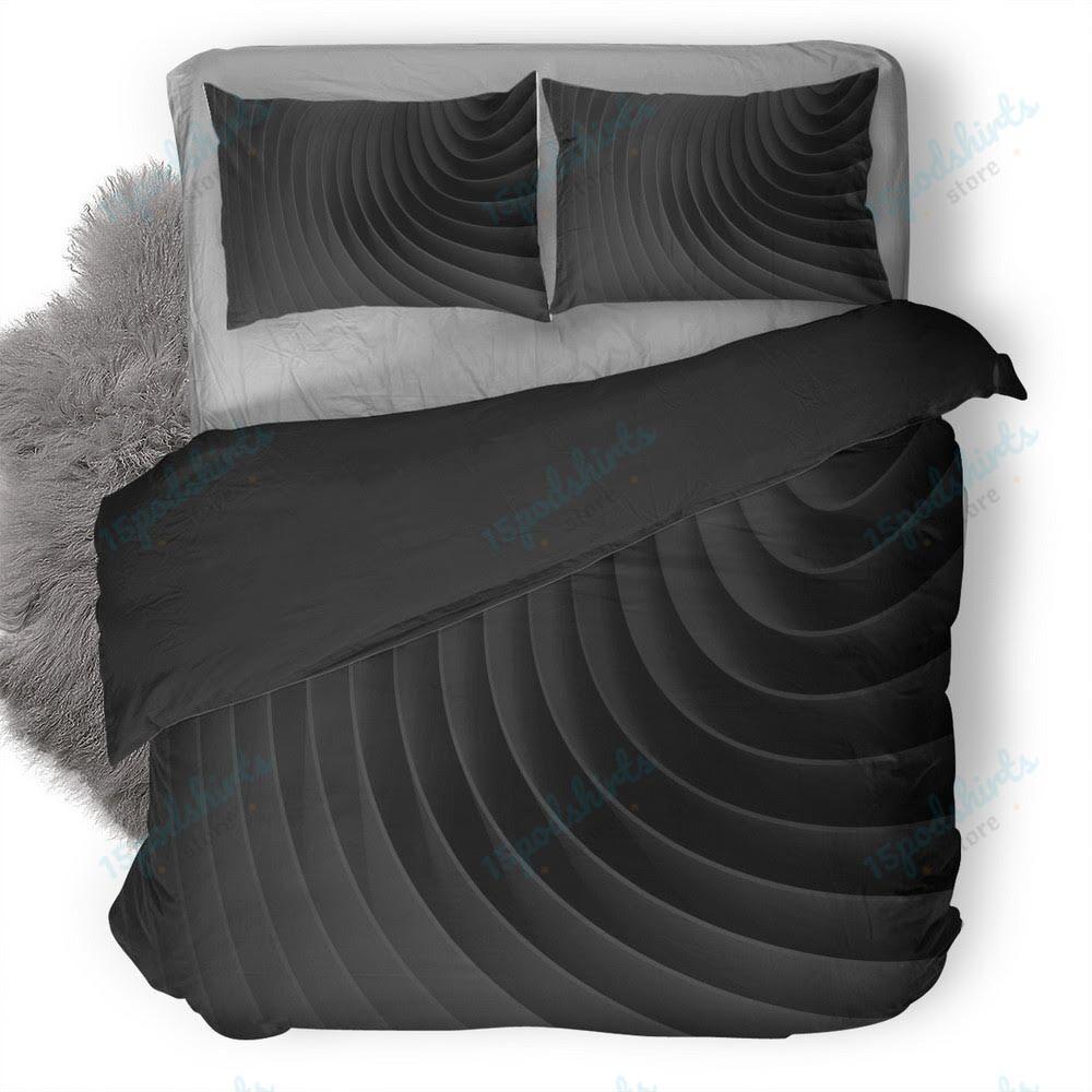 Digital Art Abstract Black Lines Minimalism Duvet Cover Bedding Set