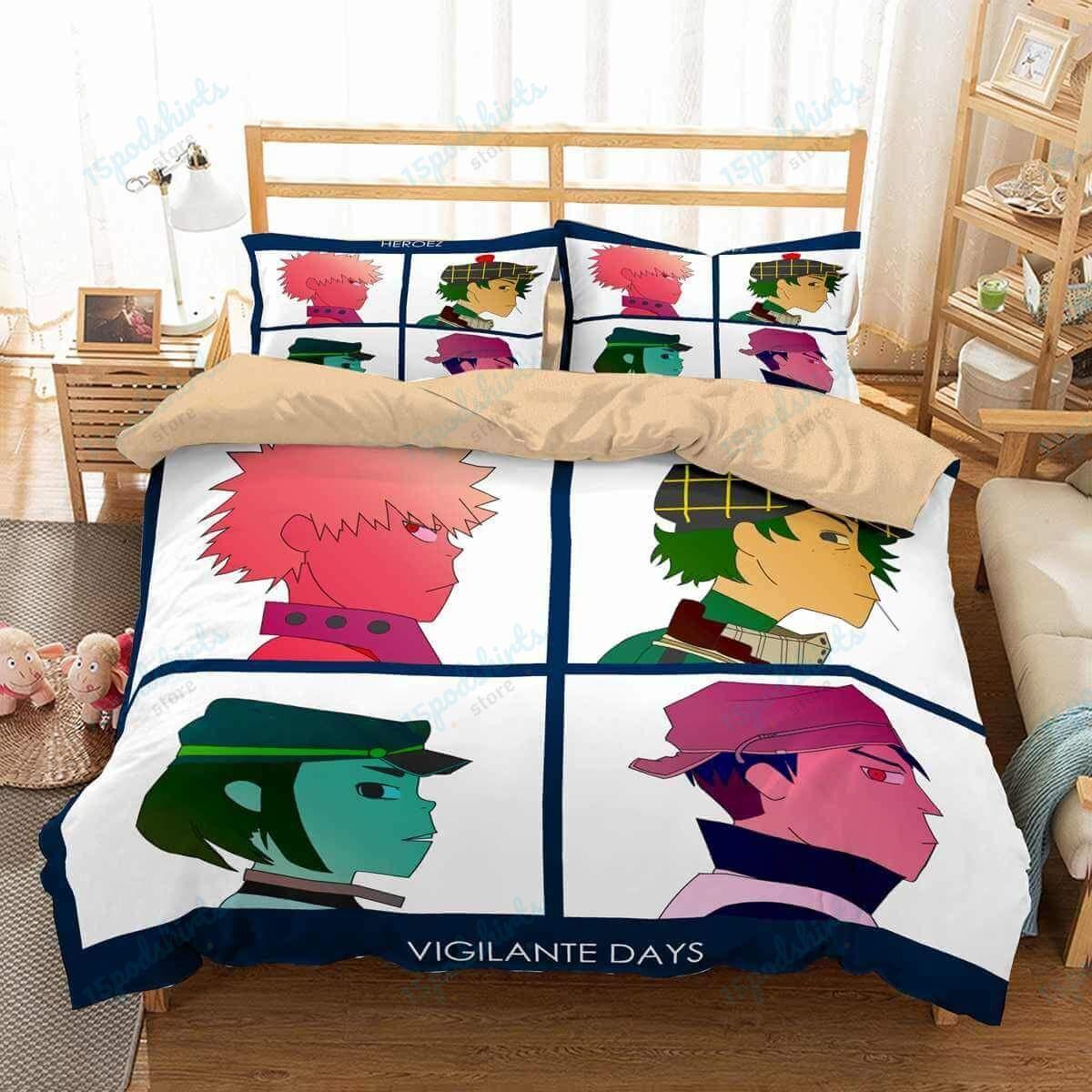 Gorillaz 1 Duvet Cover Bedding Set