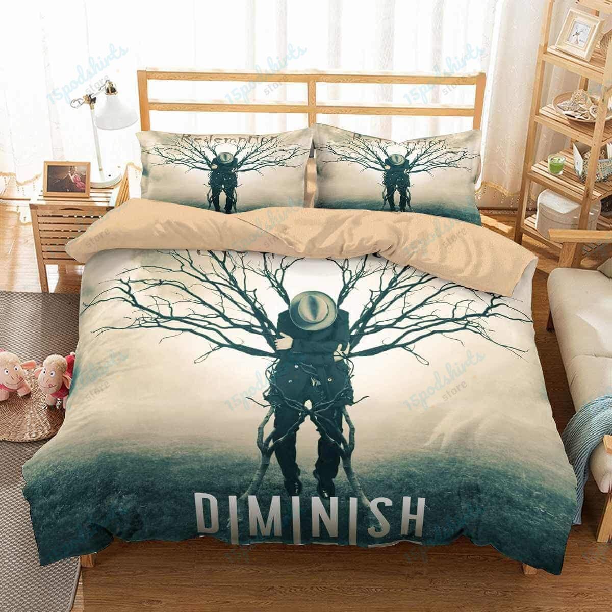 Metal Band Diminish Duvet Cover Bedding Set