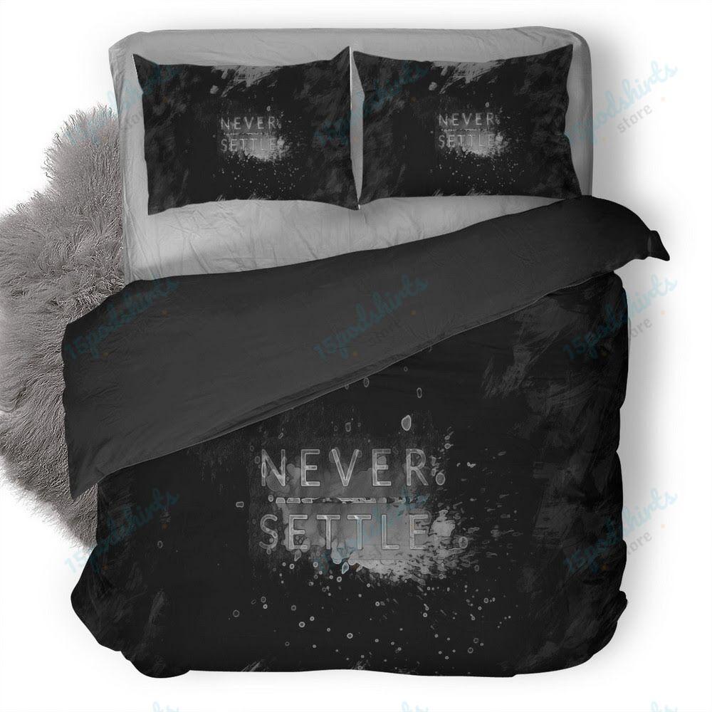 One Plus Never Settle Logo Duvet Cover Bedding Set