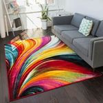 Curved Multi Colored Limited Edition  Sku 267888 Rug
