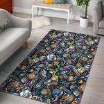 Alien Ufo Psychedelic Pattern Print Area Limited Edition  Sku 268133 Rug