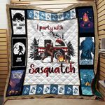 I Party With Sasquatch Bigfoot Blanket TH1909 Quilt