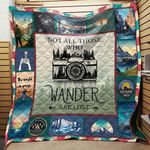 Not All Those Who Wander Are Lost Camera Blanket TH1909 Quilt