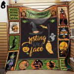 Resting Witch Face Blanket TH1909 Quilt