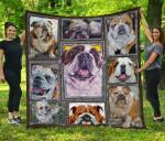 Bulldog Blanket TH1609 Quilt