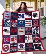 Ole Miss Rebels Blanket TH1709 Quilt