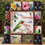 Hummingbird I Am Always With You Blanket TH0509 Quilt