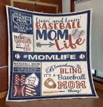 Mom Baseball Life Blanket TH0409 Quilt