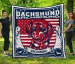 CHQ071711 Dachshund Blanket TH1709 Quilt