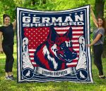 CHQ071713 German Shepherd Blanket TH1709 Quilt