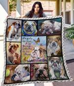 MHQD00034 Bulldog Blanket TH1709 Quilt