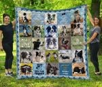 CHQDA26001 Border Collie Blanket TH1609 Quilt