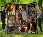 CHQ120801 Lion Blanket TH1609 Quilt