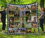 CHQD26005 Belgian Shepherd Dog Blanket TH1609 Quilt