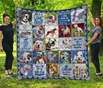 CHQDA26007 American Bulldog Blanket TH1609 Quilt