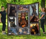 CHQDOG41013 Doberman Pinscher Blanket TH1609 Quilt