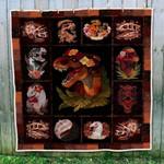 Floral Dinosaur Blanket TH0509 Quilt