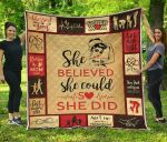 She Believed She Could Mom Premium Blanket TH0509 Quilt