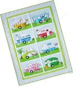 Camping Campers Blanket TH0509 Quilt