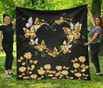 Butterfly Premium Heart PP039 Blanket TH0509 Quilt