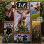 Farm Lovely Cows In The Field Blanket TH1707 Quilt