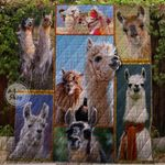 Farm Lovely Llamas In The Field 1 Blanket TH1707 Quilt