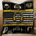 911 Dispatcher Courtesy Loyalty Service Blanket TH1707 Quilt