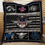 Correctional Officer Courtesy Loyalty Blanket TH1707 Quilt