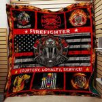 Firefighter Courtesy Loyalty Service Blanket TH1707 Quilt