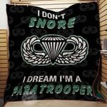 Paratrooper I Don T Snore I Dream I M Blanket TH1707 Quilt