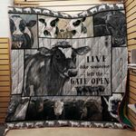 Farm Cow Live Like Someone Blanket TH1707 Quilt