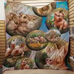 Farmer Pigs Kid Loves Blanket TH1707 Quilt
