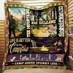 Camp More Worry Less Blanket TH1707 Quilt