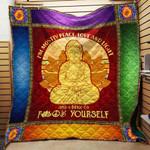 Peace Love Light Yoga Blanket TH1707 Quilt