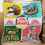 Love Sloth Blanket TH1707 Quilt