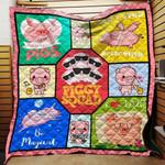 Piggy Squad Blanket TH1707 Quilt