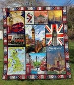United Kingdom 2 Blanket TH1607 Quilt
