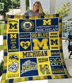 Michigan Wolverines 3 Blanket TH1607 Quilt