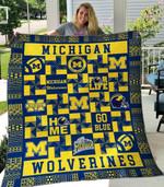 Michigan Wolverines 2 Blanket TH1607 Quilt